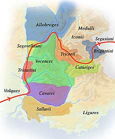 carte des populations alpines